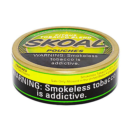 Skoal Pouches, Citrus Tobacco Blend (5-can roll)