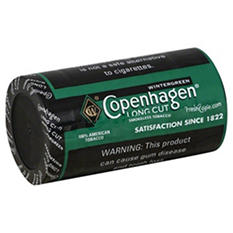 Copenhagen Long Cut Wintergreen (1.2 oz. per can, 5 cans)