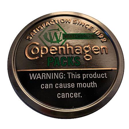 Copenhagen Packs Wintergreen $.50 Off (5 cans)