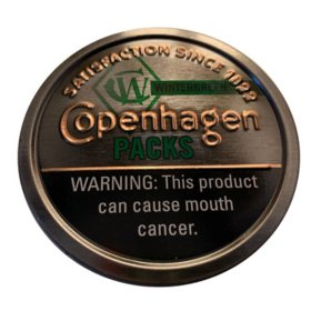 Copenhagen Packs Wintergreen $.50 Off (5 cans)