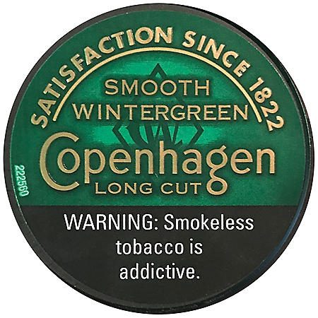 Copenhagen Long Cut Smooth Wintergreen (1.2 oz. can, 5 ct.)