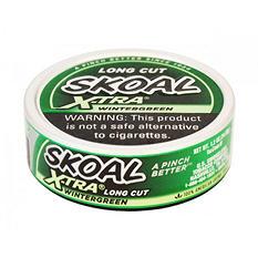 Skoal X-tra Long Cut, Wintergreen (5-can roll)