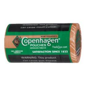 Copenhagen Pouches, Wintergreen (5 can roll) Promo Price