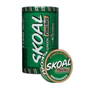 Skoal Pouches Wintergreen $0.50 Off Per Can (5 can roll)