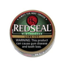 Red Seal Long Cut Wintergreen (10 can roll) $7.50 off roll