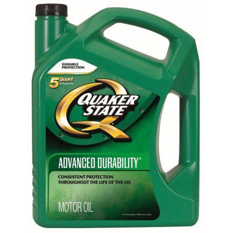 Quaker State Advanced Durability Motor Oil 5w30 2 - 5 Quart Bottles