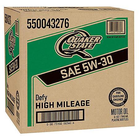 Quaker State High Mileage SAE 5W-30 Motor Oil (6-pack/1 quart bottles)