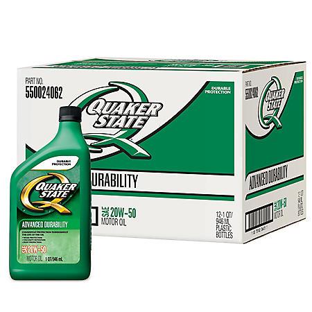 Quaker State 20W50 Motor Oil - 1 Quart Bottles - 12 pack - Sam's Club