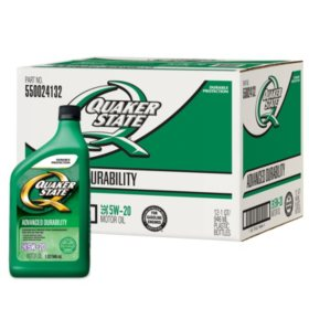 Quaker State 5W-20 Motor Oil (12-pack/1 quart bottles)