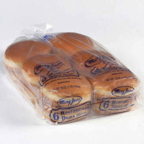"""Mary Jane's 5"""" Hamburger Buns - 2/ 6 pks."""