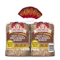 Oroweat Whole Grains 100% Whole Wheat Bread (24oz / 2pk)