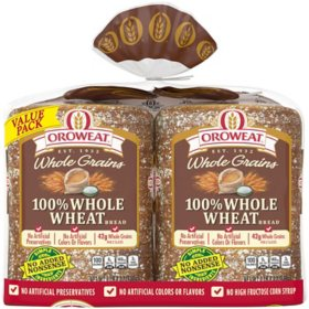 Oroweat Whole Grains 100% Whole Wheat Bread (24oz / 2pk)