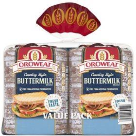 Oroweat Country Buttermilk Bread (24oz / 2pk)