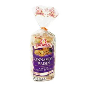 Oroweat Cinnamon Raisin English Muffins (14.5oz)