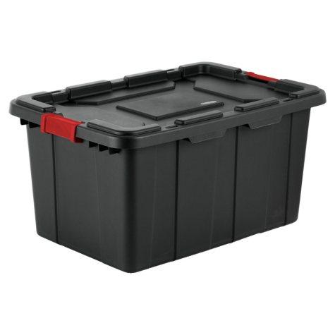 Sterilite 27-Gallon Industrial Tote (Black)