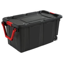 Sterilte 40-Gallon Wheeled Industrial Tote (Black)