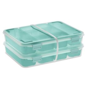 Sterilite Set of (2), Divided Case Storage