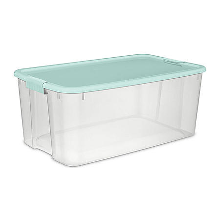 Sterilite EZ Carry Storage Box (116 Qt./110 L, Classic Mint)