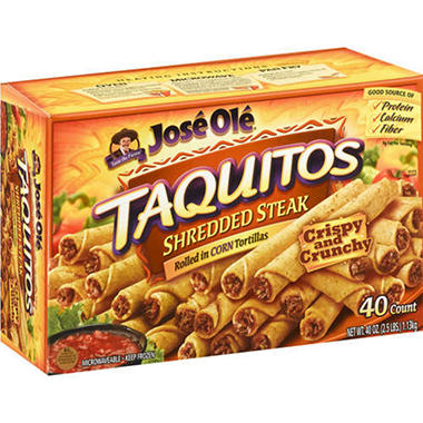José Olé® Shredded Steak Taquitos - 40 ct.