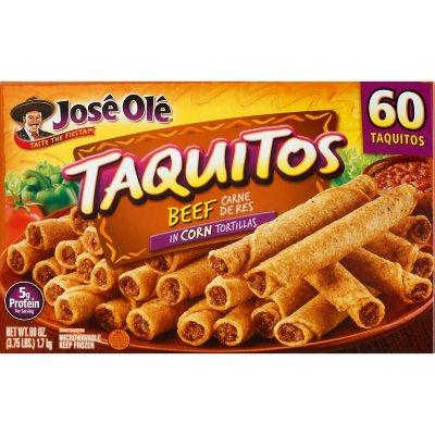 Jose Ole Beef Taquitos Frozen 60 Ct Sam S Club