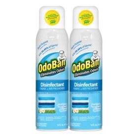 Odoban Disinfectant Fabric & Air Freshener Spray, Choose Your Scent  (14oz.,2pk.)