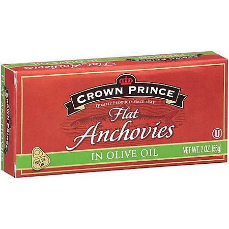 Crown Prince Premium Flat Anchovies (2 oz., 6 pk.)