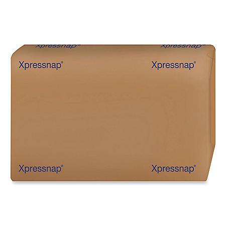 "Tork Xpressnap Interfold Dispenser Napkins, 1-Ply, Bag-Pack, 13""W x 8.5""D, White, 6000 per Carton"