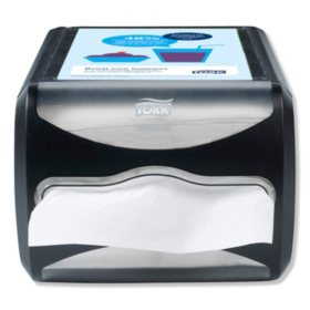 "Tork Xpressnap Counter Napkin Dispenser, 7.5""W x 12.1""D x 5.7""H, Black"