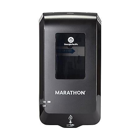 """Marathon® Automated Soap Dispenser, Black, 6.5"""" W x 4"""" D x 11.7"""" H"""