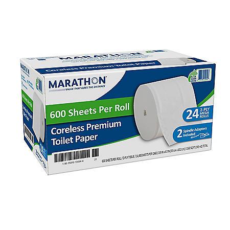Marathon Coreless Premium 2-Ply Toilet Paper (24 rolls/case)