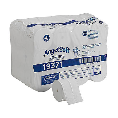 Georgia Pacific Professional Compact Coreless Bath Tissue, Septic Safe, 2-Ply, White (750 sheets/roll, 36 rolls)