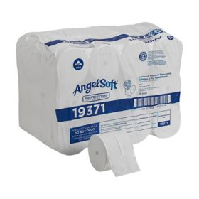 Angel Soft Compact Coreless 2-Ply Toilet Paper, 750 Sheets, 36 Rolls (19371)