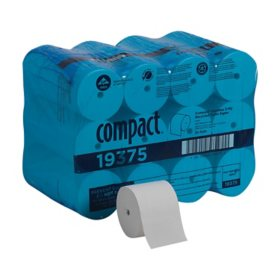 Compact® Coreless Recycled Toilet Paper, 1000 Sheets, 36 Rolls (19375)