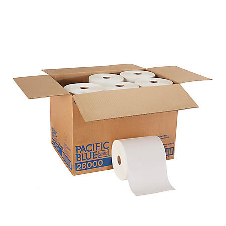 Pacific Blue Select 2-Ply Paper Towel Roll, White, 350 Feet/Roll, 12 Rolls/Case (28000)