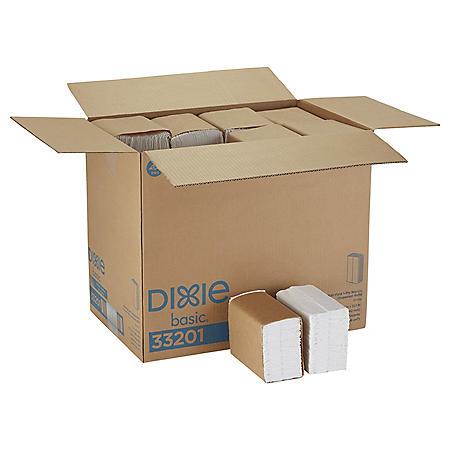 Dixie Basic® Tall Fold Dispenser Napkins, White, 10000 Napkins (33201)