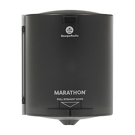 "Marathon Centerpull Paper Towel Dispenser, Smoke, 9.15"" W x 11.5"" D x 8.6"" H"