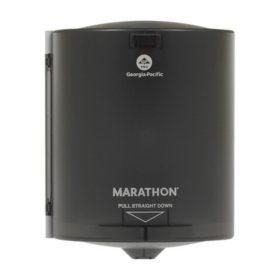 "Marathon® Centerpull Paper Towel Dispenser, Smoke, 9.15"" W x 11.5"" D x 8.6"" H"