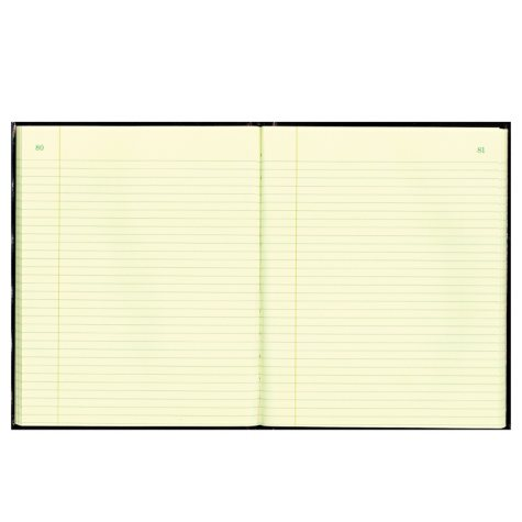 Rediform - Texhide Accounting Book, Black/Burgundy, 150 Green Pages, 10 3/8 x 8 3/8
