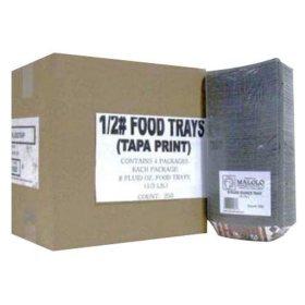 1/2 lb. Food Trays -  1/250 ct.