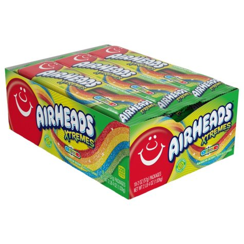 Airheads Xtremes Sour Belts (2 oz., 18 ct.)