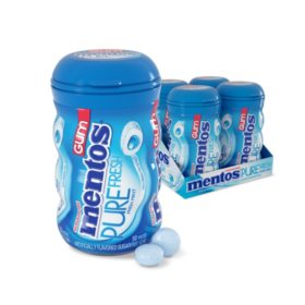 Mentos Pure Fresh Sugar-Free Chewing Gum Fresh Mint (50ct., 4pk.)