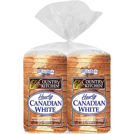Country Kitchen Hearty Canadian White Bread - 44 oz. - 2 pk.