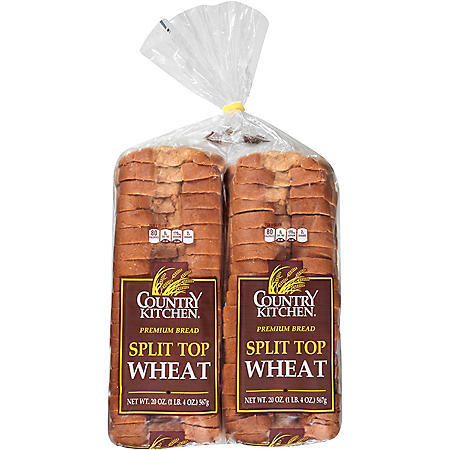 Country Kitchen Split Top Wheat Bread (20oz / 2pk)