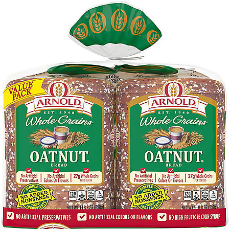 Arnold Whole Grains Oatnut Bread (24oz / 2pk)