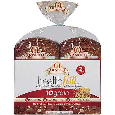 Oroweat Health-full 10 Grain Bread - 24 oz. - 2 pk.
