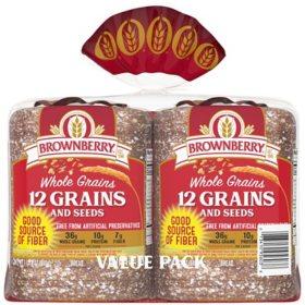 Brownberry Whole Grains 12 Grain Bread (24 oz./ 2 pk.)