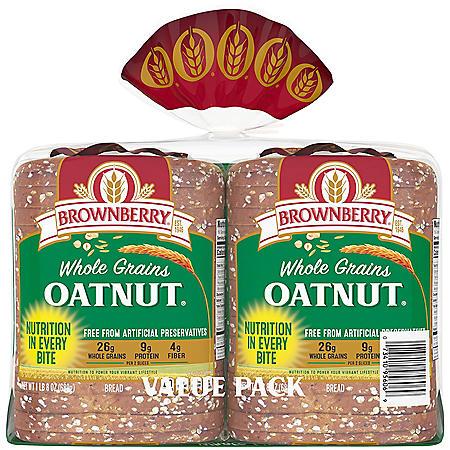 Brownberry Whole Grains Oatnut Bread (24oz / 2pk)