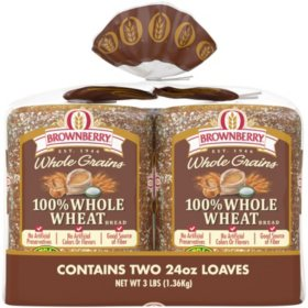 Brownberry Whole Grains 100% Whole Wheat Bread (24oz / 2pk)