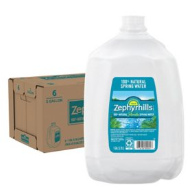 Zephyrhills 100% Natural Spring Water (1 gal., 6 pk.)