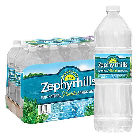 Zephyrhills 100% Natural Spring Water (1L / 15pk)